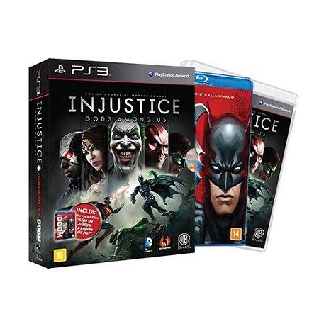 Jogo Injustice Gods Among Us + Liga da Justiça - PS3