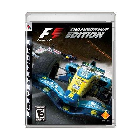 Jogo F1 Championship Edition - PS3