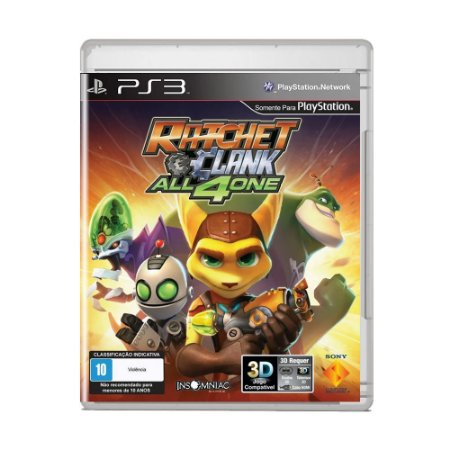 Jogo Ratchet and Clank: All 4 One - PS3