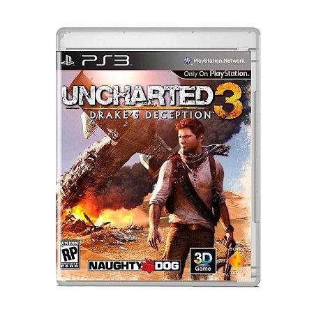 Jogo Uncharted 3: Drake's Deception (Capa Reimpressa) - PS3
