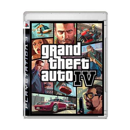 Jogo Grand Theft Auto IV (Capa Reimpressa) - PS3