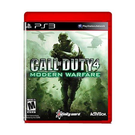 Jogo Call of Duty 4 Modern Warfare (Greatest Hits) - PS3