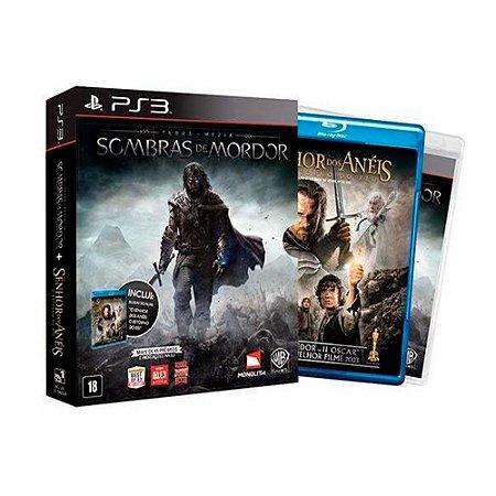 Jogo Terra-Média: Sombras de Mordor + Filme Senhor dos Anéis - PS3