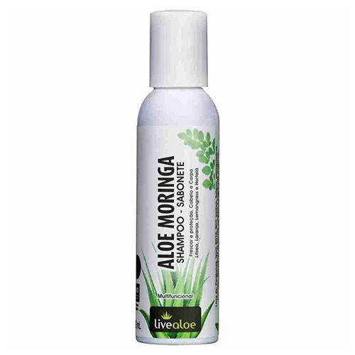 Shampoo Sabonete Aloe Moringa Livealoe 120ml