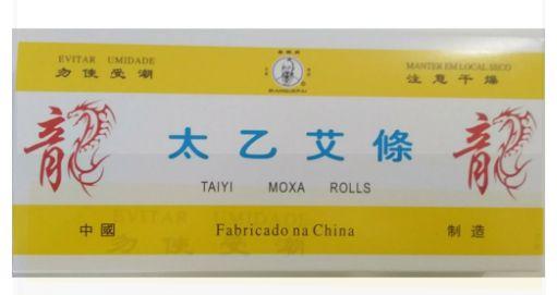 Moxa Bastão Artemisia com gengibre e canela - caixa com 10 unidades