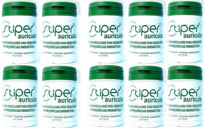 Stiper Auricular- 10 potes com 100 pastilhas