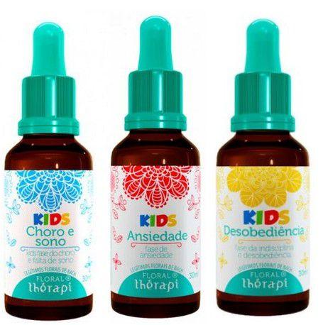 Kit Floral Therapi Kids c/3:  para Choro e sono, Ansiedade e Desobediência