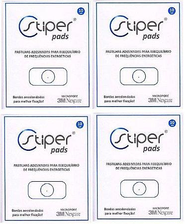 Stiper Pads - Pastilhas Stiper Adesivadas - 4 cartelas