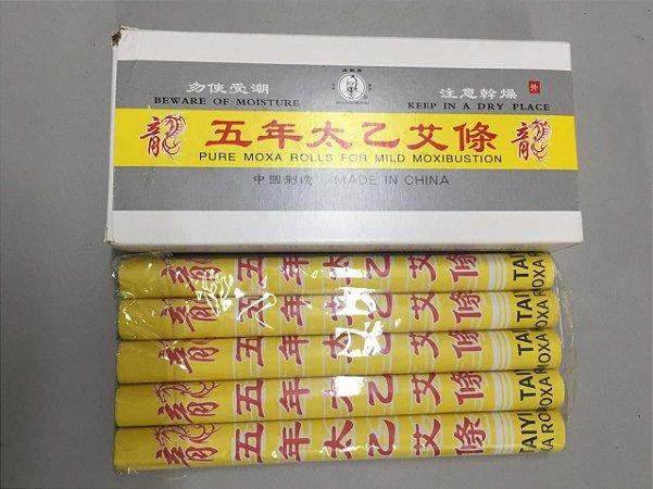 Moxa Bastão Artemisia com gengibre e canela - tipo AAA - caixa com 10 unidades