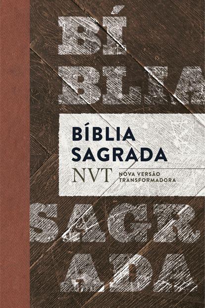Bíblia NVT - Madeira (letra normal/flexível)