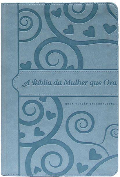 A Bíblia da mulher que ora - NVI (azul coração)