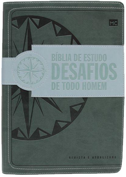 Bíblia de estudo desafios de todo homem (verde) RA