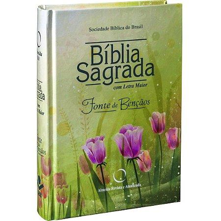 Bíblia de Bolso - Fonte de Bênçãos (Capa dura floral)
