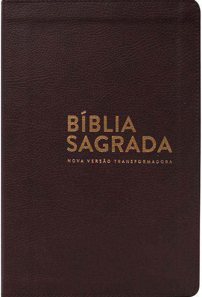 Bíblia NVT - Luxo - Marrom (Letra normal)
