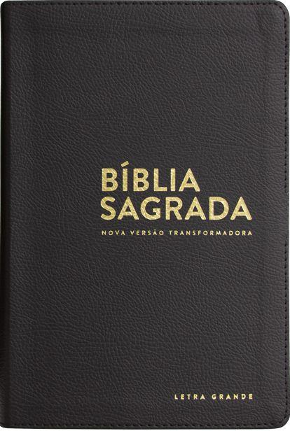 Bíblia NVT - Luxo - Preta (Letra grande)