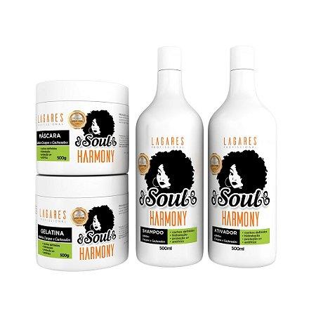 Soul Harmony - Kit cachos, crespos e ondulados