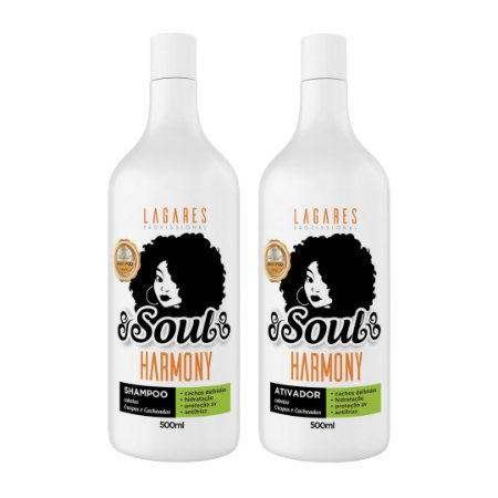 Soul Harmony - Shampoo e Ativador cachos, crespos e ondulados