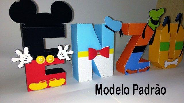 Letras 3D para decoração de eventos