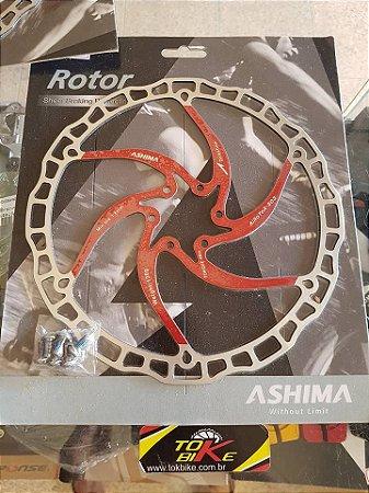 DISCO DE FREIO - ASHIMA R8 -203MM - VERMELHO