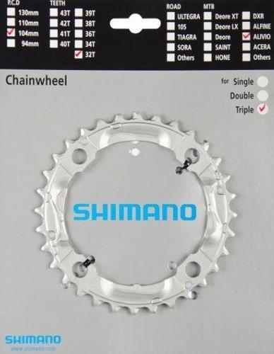 COROA SHIMANO ALIVIO - 32 DENTES - MTB