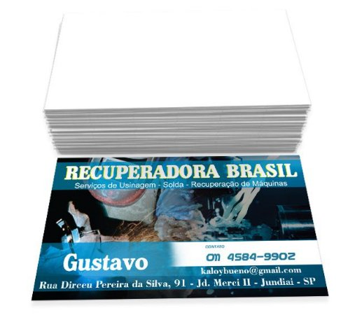 CARTÃO DE VISITA - COUCHÊ BRILHOSO 250G - 4x0