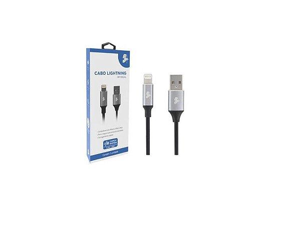 CABO LIGHTNING PARA USB A - 2.0 - 1,2m Aluminum Mobile Premium