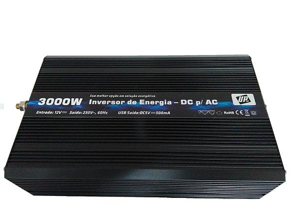 Inversor e conversor de Tensão 3000w-12v-P/220v Onda Sen Mod