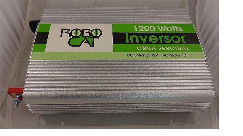 Inversor 1200w conversor de Tensão 12v P/110v Onda Senoidal Pura