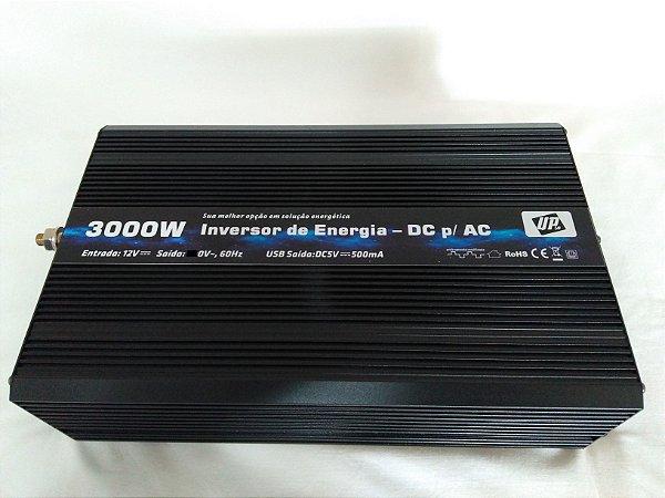 Inversor De Energia e Conversor de Tensão 3000w-12V-P/110V