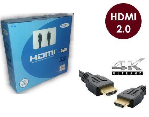 Cabo Hdmi 2.0-19 Pinos Ethernet 40 Metros 4k Ultra Hd 3d C/Filtro