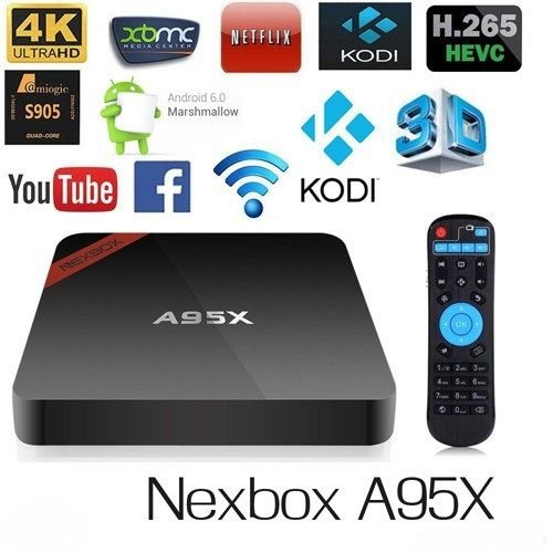 Box Tv A95X 4K HD Android 6.0 Google Play Netflix Facebook YouTube + configuração do aparelho