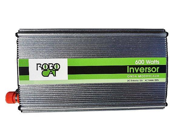Inversor e conversor de Tensão 600w-12v-P/220v-Onda Senoidal Modificada