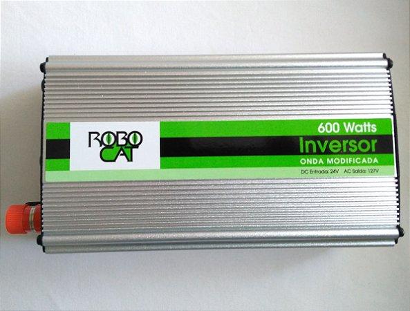 Inversor e conversor de Tensão 600w-24v-P/110v-Onda Senoidal Modificada