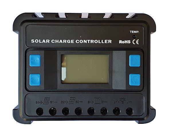 Controlador de Carga Solar ENS12/24-60D PWM 60A C/ Display