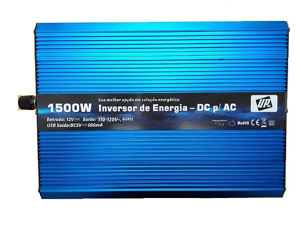 Inversor e conversor de Tensão 1500w-12V-p/110V-Onda Senoidal