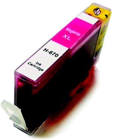 Cartucho de Tinta Compatível com HP 670XL MAGENTA  CZ119AB 4625 4615 5525