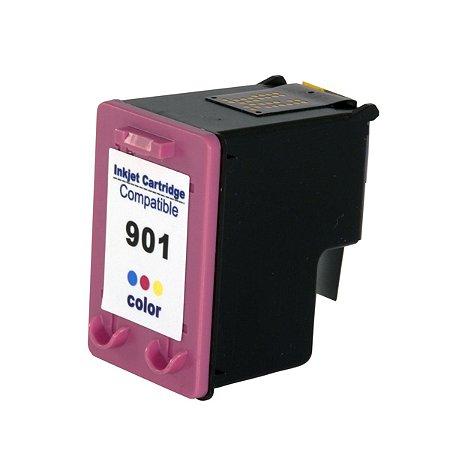 Cartucho de Tinta Compatível com HP 12 ml 901XL 901 CC656AB Colorido | J4580 J4680 J4660 J4500 J4550