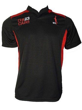 Camiseta Basquete Chicago 23 Rugby Preto/vermelho