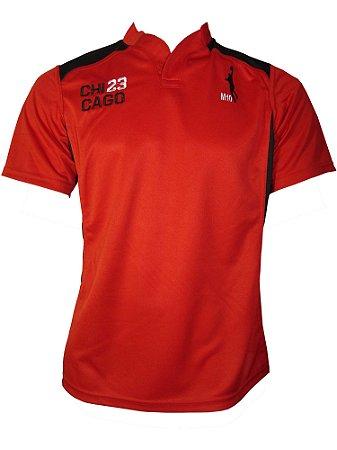 Camiseta Basquete Chicago 23 Rugby Vermelho