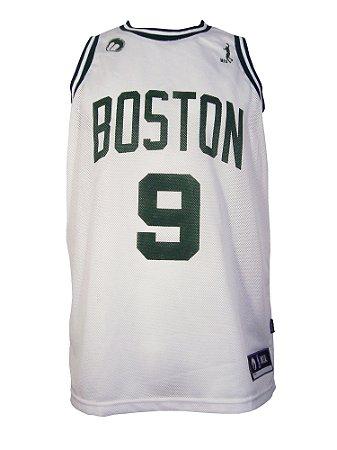Regata Basquete Boston 9 furad Branco