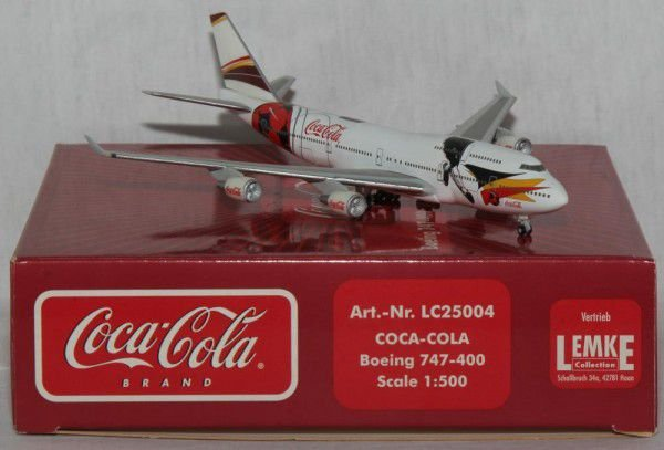 Herpa 1:500 Coca Cola European Championship Boeing 747-400