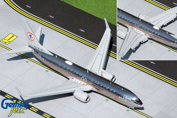 """Gemini Jets 1:200 American Airlines Boeing 737-800 """"Astrojet"""" Flaps/Slats Extended"""