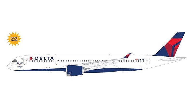 """PRÉ- VENDA Gemini Jets 1:200 Delta Airlines Airbus A350-900 """"The Delta Spirit"""" Flaps/Slats Extended"""