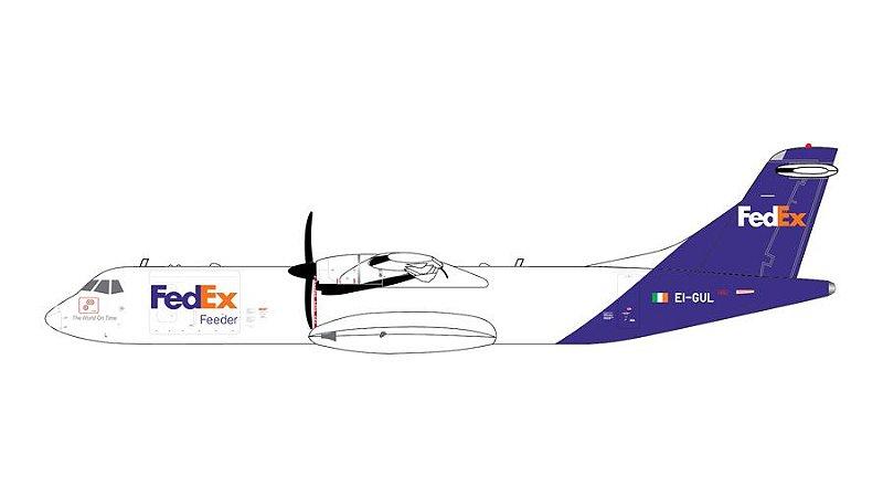 PRÉ- VENDA Gemini Jets 1:400 FedEx Express Aerospatiale ATR-72-600F