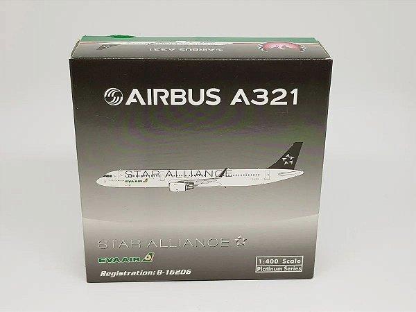 """Phoenix 1:400 Eva Air Airbus A321 """"Star Alliance"""""""