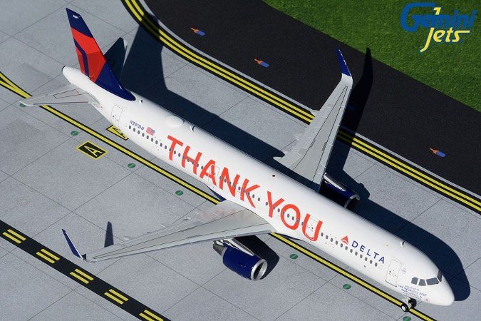 """Gemini Jets 1:200 Delta Airbus A321 """"Thank You"""""""
