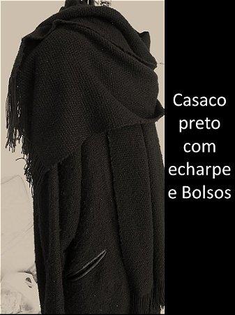 CASACO COM ECHARPE
