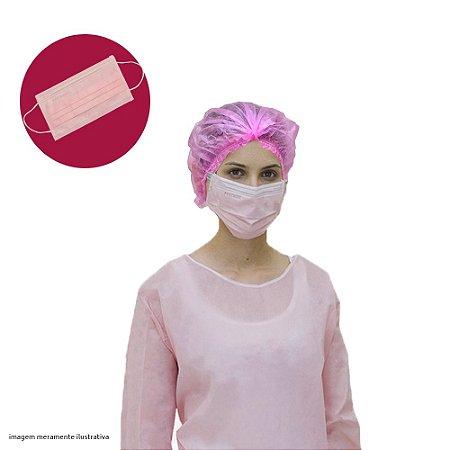 Caixa de Máscara Rosa 50 unid. - ProtDesc