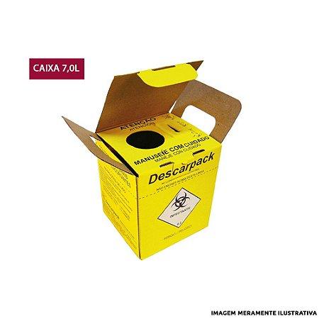 Caixa Coletora de Agulhas Descarpack - 7L