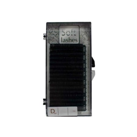 CÍLIOS SOFT VOLUME RUSSO CURVATURA D COM 16 FILEIRAS - 8MM - Espessura 0,07mm